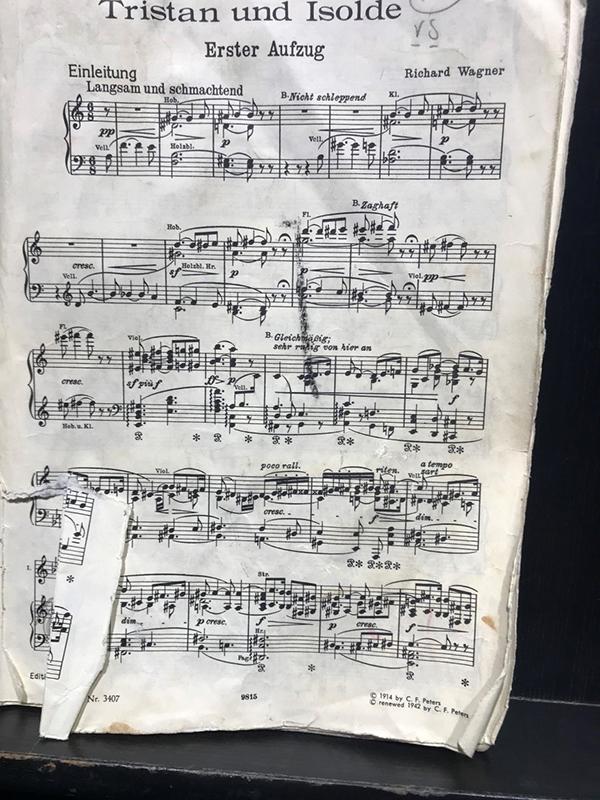 Iréne's Barcelona diary: score for Tristan und Isolde
